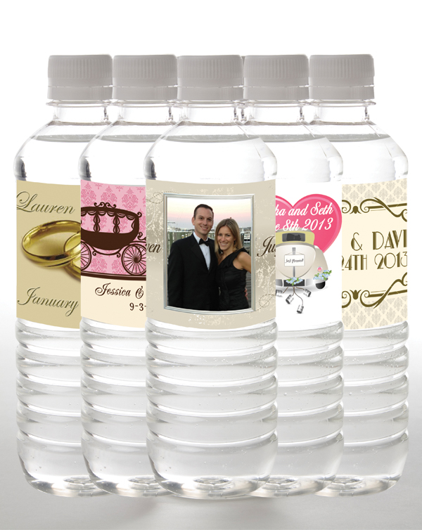 Wedding water bottles | personalized